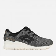 Asics Lifestyle Women's Gel-Lyte III Leather Trainers - Black/Black - UK 4 - Black