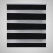 vidaXL Roleta den a noc / Zebra Twinroll 120x230 cm černá