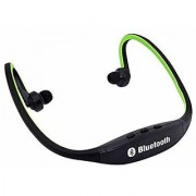Futaba Sports Hands-free Wireless Bluetooth V3.0 High Quality Stereo Music Headsets with Mic Calling for Smart Phone - Green