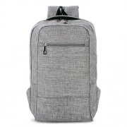 Universal Multi-Function Canvas Cloth Laptop Computer Shoulders Bag Business Backpack Students Bag Size: 43x28x12cm For 15.6 inch and Below Macbook Samsung Lenovo Sony DELL Alienware CHUWI ASUS HP(Grey)