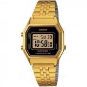 Casio LA-680WGA-1DF reloj de alarma digital unisex - dorado + negro