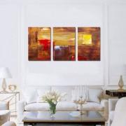 Tablou Canvas Premium Abstract Multicolor Rosu-Maro Decoratiuni Moderne pentru Casa 3 x 70 x 100 cm