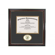 Signature Announcements Marco de Diploma de graduación de Georgetown-University, 50,8 x 50,8 cm, Color Dorado Brillante Caoba