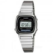 Casio LA670WA-1DF reloj digital mujer - plata / negro (sin caja)