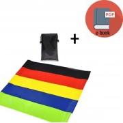 Resistance band-Weerstandband set,verschillende kleuren,multi color, met verschillende weerstand niveaus en een draagbare mini tas