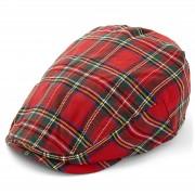 Major Wear Béret à visière en tartan écossais