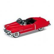 Welly Modelauto Cadillac Eldorado rood open cabrio 1953 1:34