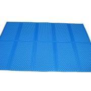 Modrá skládací pěnová karimatka Casmatino - délka 200 cm, šířka 140 cm a výška 1 cm