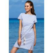 Pandora női strandruha kékes-fehér 4042