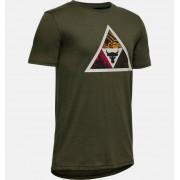 Under Armour Boys' Project Rock Brahma Bull Short Sleeve Green YXL