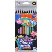 Colorino színes ceruzakészlet 10db-os, METALLIC kerek