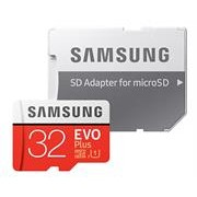 Samsung EVO Plus 32GB Micro SDXC with SD Adapter
