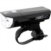 Prednje svjetlo za bicikl Cateye GVOLT20RC HL-EL350G-RC LED (jednobojna) pogon na punjivu bateriju Crna