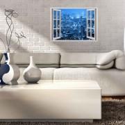 Sticker decorativ de perete Wall 3D, 259DWL1054, 70 x 50