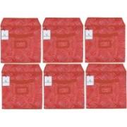 Billion Designer Laheriya Design Non Woven 6 Pieces Small Foldable Storage Organiser Cubes/Boxes (Orange) - BILLION36081 BILLION036081(Multicolor)