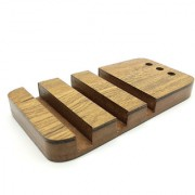 JaamsoRoyals Three Phone with pen Wooden Mobile Stand / Holder For Smartphone (Wooden)