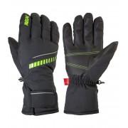RELAX DOWN Lyžařské rukavice RR12B černá/zelená M