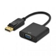 Преходник EDNET 84506, от DisplayPort(м) към VGA(ж), черен