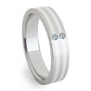 Ocelový prsten se stříbrem ZAG05852