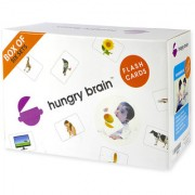 Hungry Brain Flash Cards- An easy fun way of learning-Gift box of 6 Flash Cards (Set A)