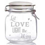 Love - Patentburk med LED-Stjärnljus 15x13 cm
