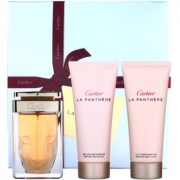 Cartier La Panthere lote de regalo VII. eau de parfum 75 ml + leche corporal 100 ml + gel de ducha 100 ml