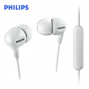 Headphones PHILIPS with mic SHE3555WT/00, 22kHz,103 dB.