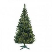Brad artificial de Craciun JODLA cu aspect natural verde inaltime 180 cm suport inclus