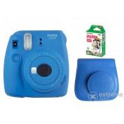 Aparat foto analog Fujifilm Instax Mini 9 , cobalt blue + toc + film (10 buc.)