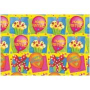 Hartie impachetat Happy Birthday 2m x 70cm, Herlitz