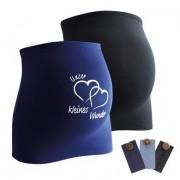 mamaband Buikband 2-pack Onze kleine wonder + 3-pack broek uitbreiding zwart / donkerblauw