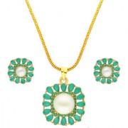 Magnificent Pearl Pendant Set By Sri Jagdamba Pearls