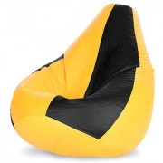Ink Craft yellow black Hi-Back Gamer Bean Bag Chair Cover Only - XXL