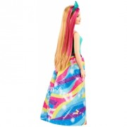 Barbie papusa printesa Dreamtopia cu coronita albastra