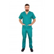 Costum medical barbati verde unisex