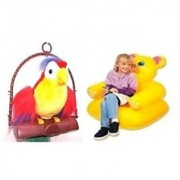 Talking Back Parrot Inflatable Teddy Chair