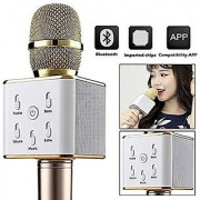 Karaoke Music With Handheld Mike / Mic With Bluetooth Speaker Portable Multi-function Wireless