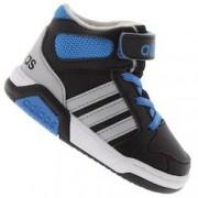 adidas Tênis Cano Alto adidas Neo BB9Tis Mid BB - Infantil - PRETO/AZUL