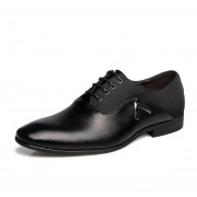 Mocasines Zapatos Vestir Ecocuero Casual Hombre -Negro