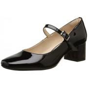 Clarks Women's Chinaberry Pop Black Leather Fashion Sandals - 5 UK/India (38 EU)