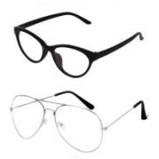 Barbarik Cat-eye, Aviator Sunglasses(Clear, Clear)