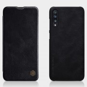 NILLKIN Qin Series Card Holder Leather Protector Cover for Samsung Galaxy A70 - Black