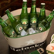 Heineken To enjoy cold beers wherever you are, go for the single walled Heineken ice bucket.
