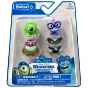 Disney Pixar Monsters University 1 Inch Mini Figure 4-Pack Mike, Wazowski, Don Carlton & 2x TBA