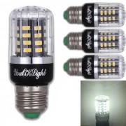 Youoklight E27 3W 40 SMD-5736 LED bombilla de maiz blanco frio (85-265V? 4 piezas)