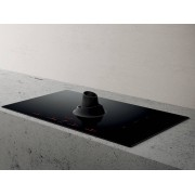 Elica NIKOUPSIDEDUCTBL Nikolatesla Upside Induction Hob with Integrated Extraction Black- Duct Out