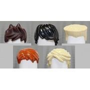 LEGO Ninjago Ninja Set of 5 hair pieces (LOOSE) fits - Lloyd, Cole, Kai, Jay, & Zane