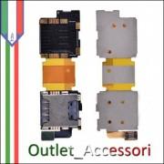 FLAT FLEX LETTORE SIM CARD READER SLOT PER SAMSUNG GALAXY SM S5 G900F G900