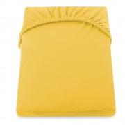 DecoKing Žluté prostěradlo DecoKing Amber Collection, 220-240 x 200 cm