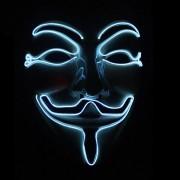 Halloween V-Vendetta Mask LED Luminous Flashing Face Mask Party Masks Light Up Dance Halloween Cosplay